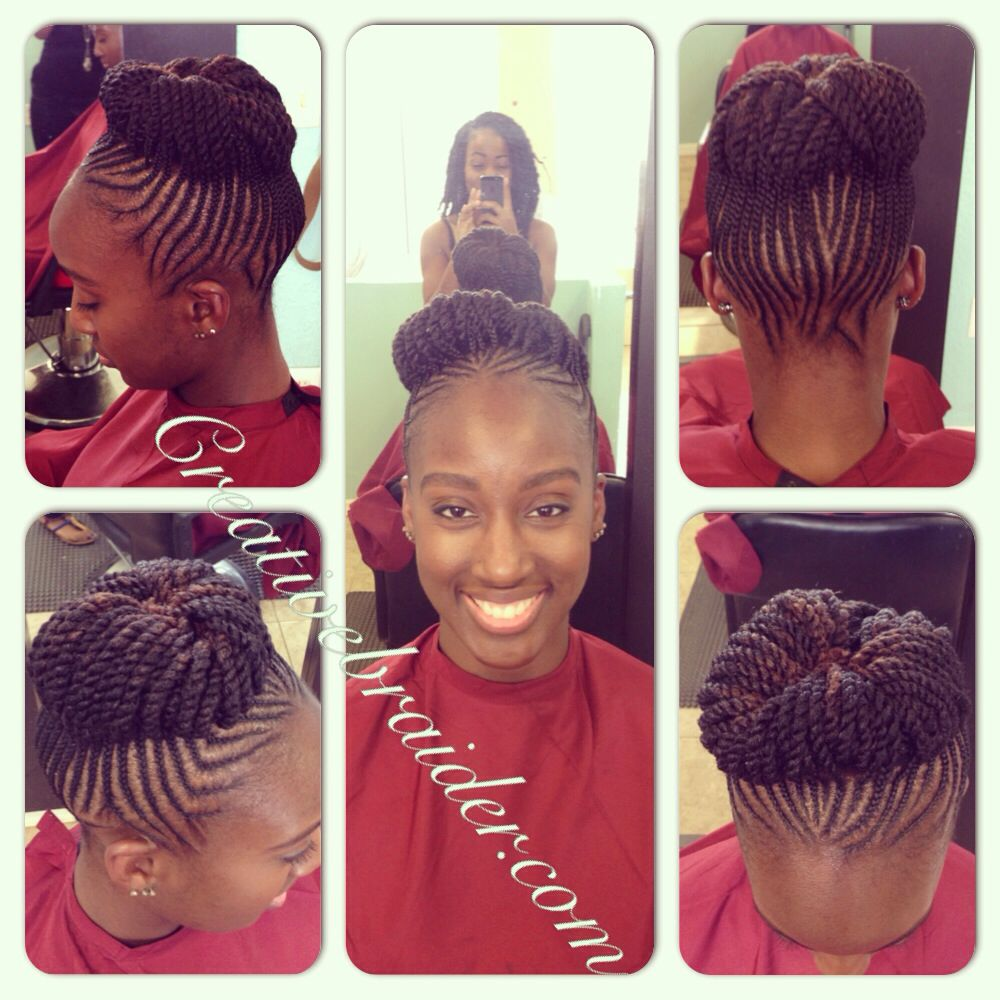My Work Protectivehairstyle Braids Cornrows Pinup Updo