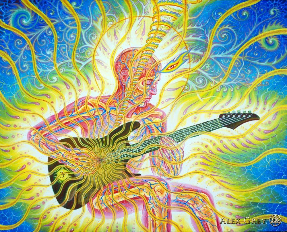 Music At Cosm This Weekend Chapel Of Sacred Mirrors Alex Gray Art Art Alex Grey