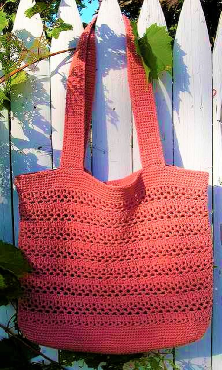 Big And Wonderfully Easy Free Market Tote Crochet Pattern ...