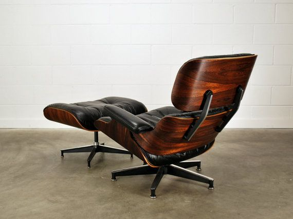 Eames Stoel Lounge.Authentic Eames Lounge Chair Rosewood And Black Leather Herman