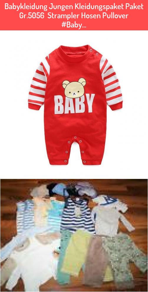 Babykleidung Jungen Kleidungspaket Paket Gr.5056  Strampler Hosen Pullover #Baby…