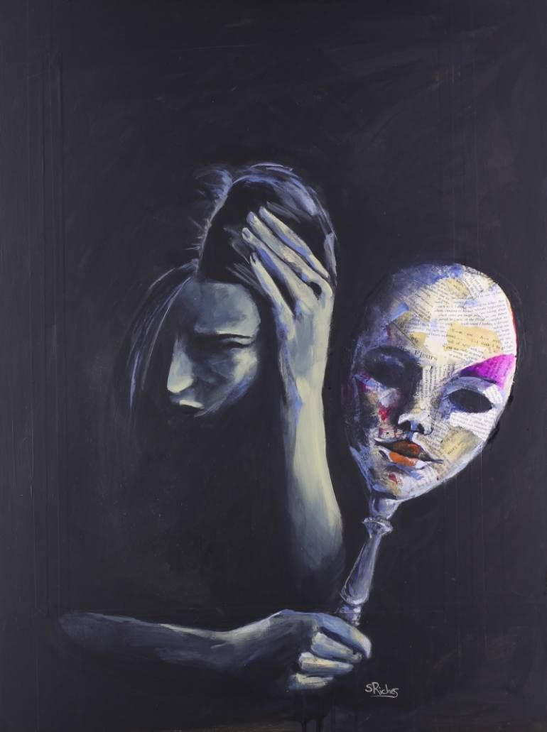 """Saatchi Art Artist Sara Riches; Painting, """"The Mask She ..."""
