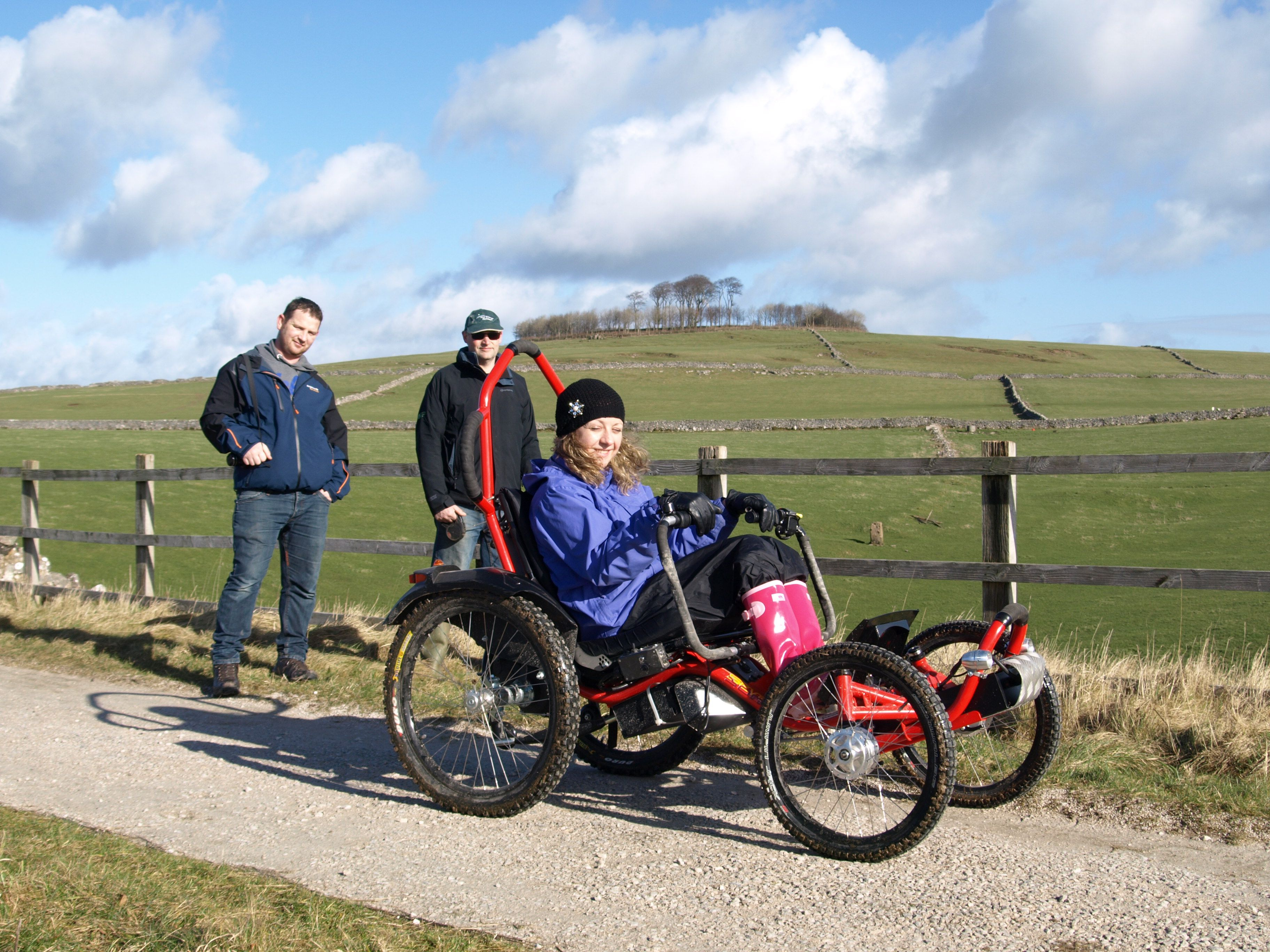 Our guests trying out the Boma 7 offroad wheelchair at