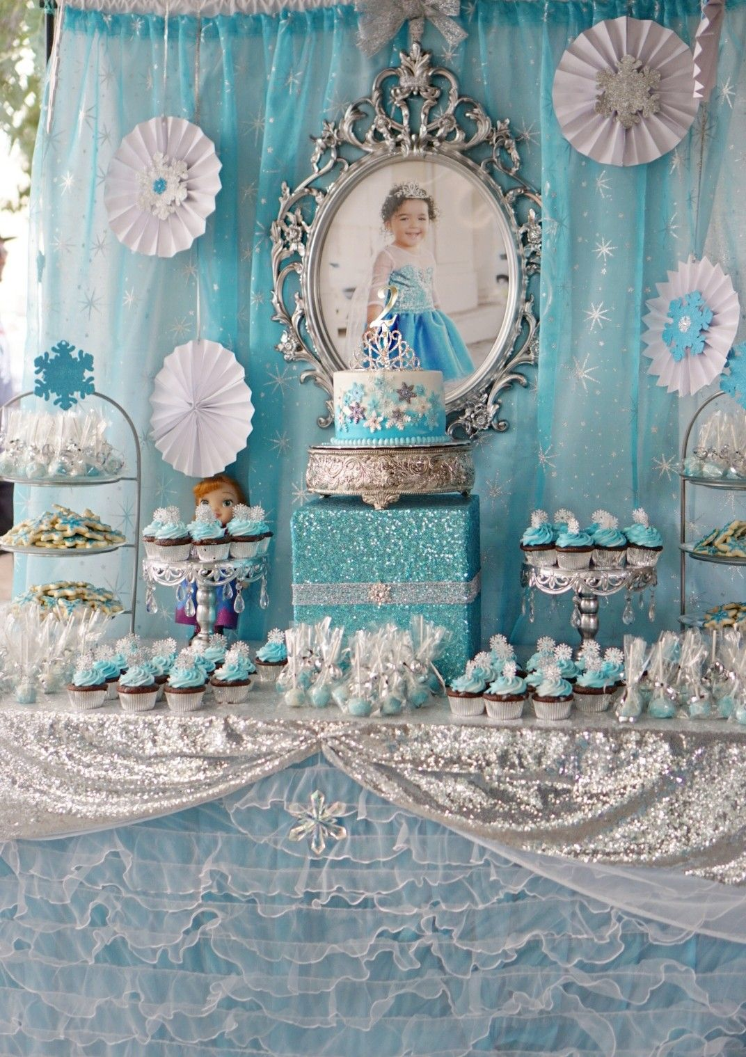 Frozen Birthday Dessert Table Elsa Birthday Party Frozen Themed