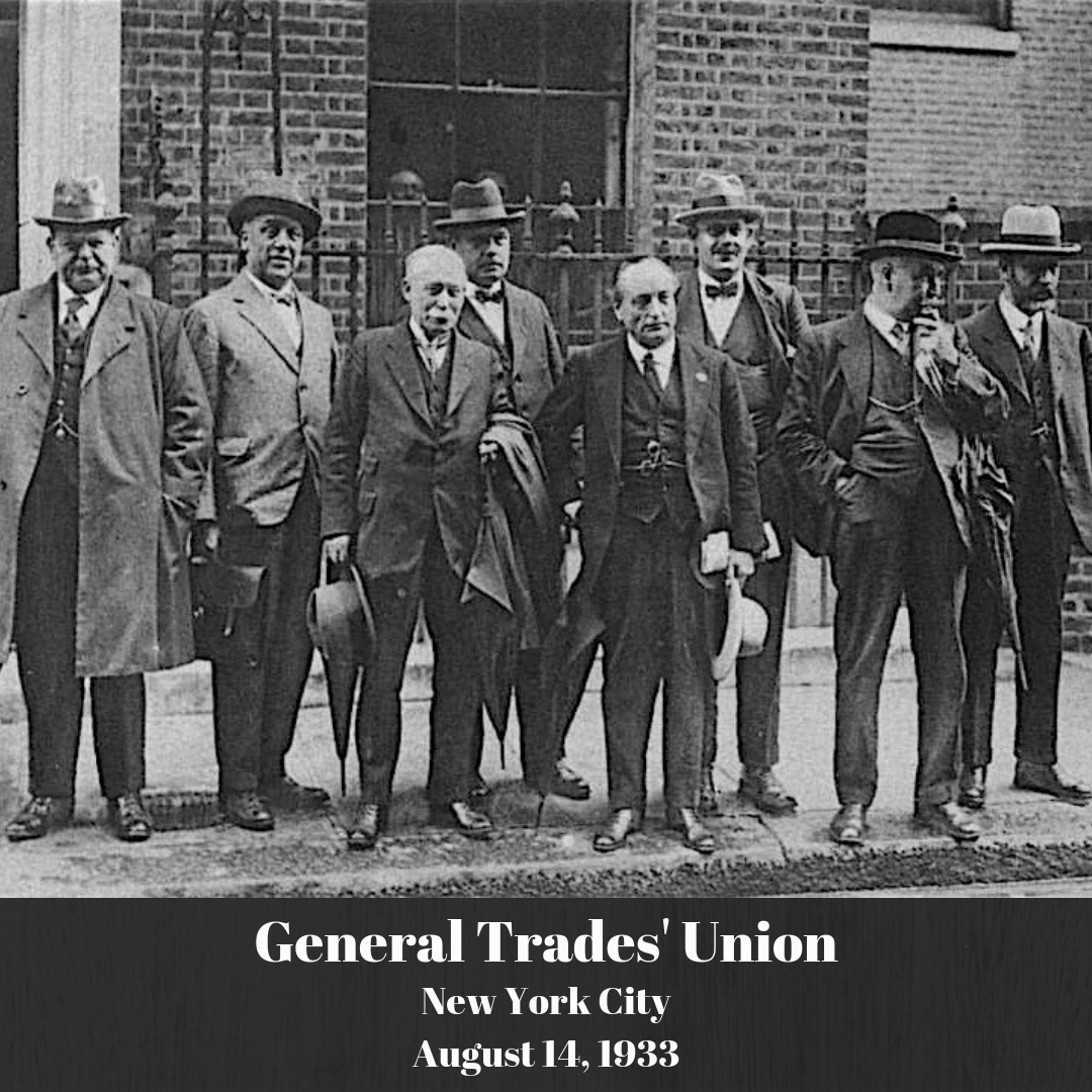 OnThisDay in 1933, the first large trade union, the