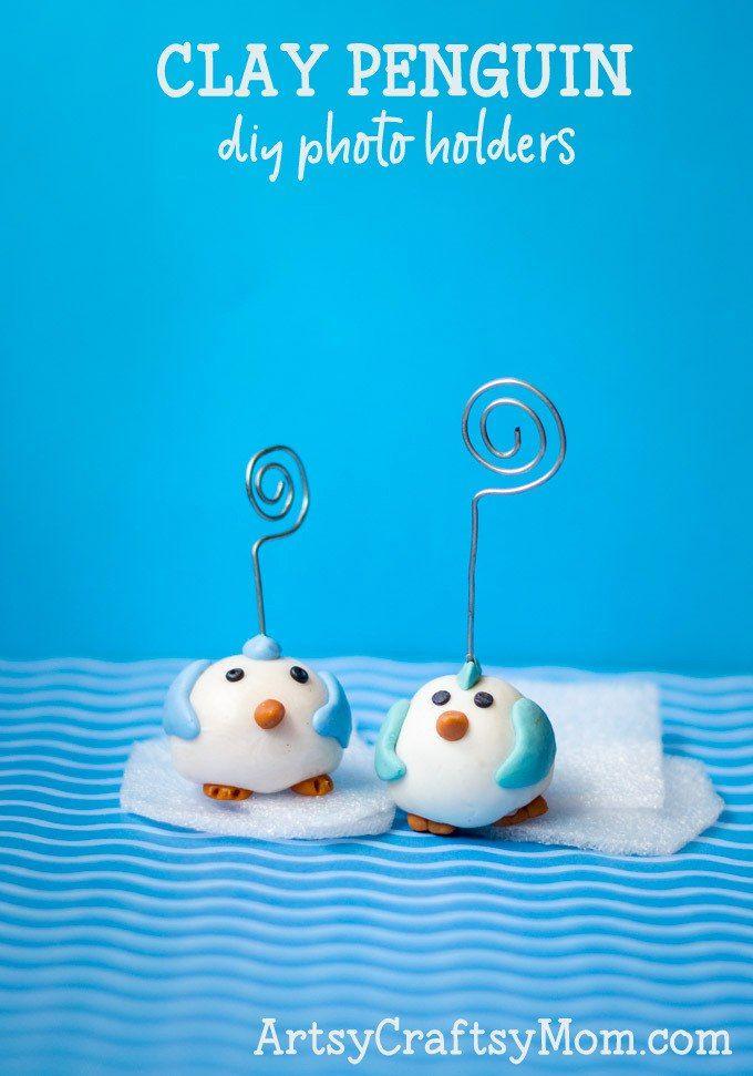 Cute Clay Penguin Craft + Homemade Air Dry Clay Recipe | Penguin ...