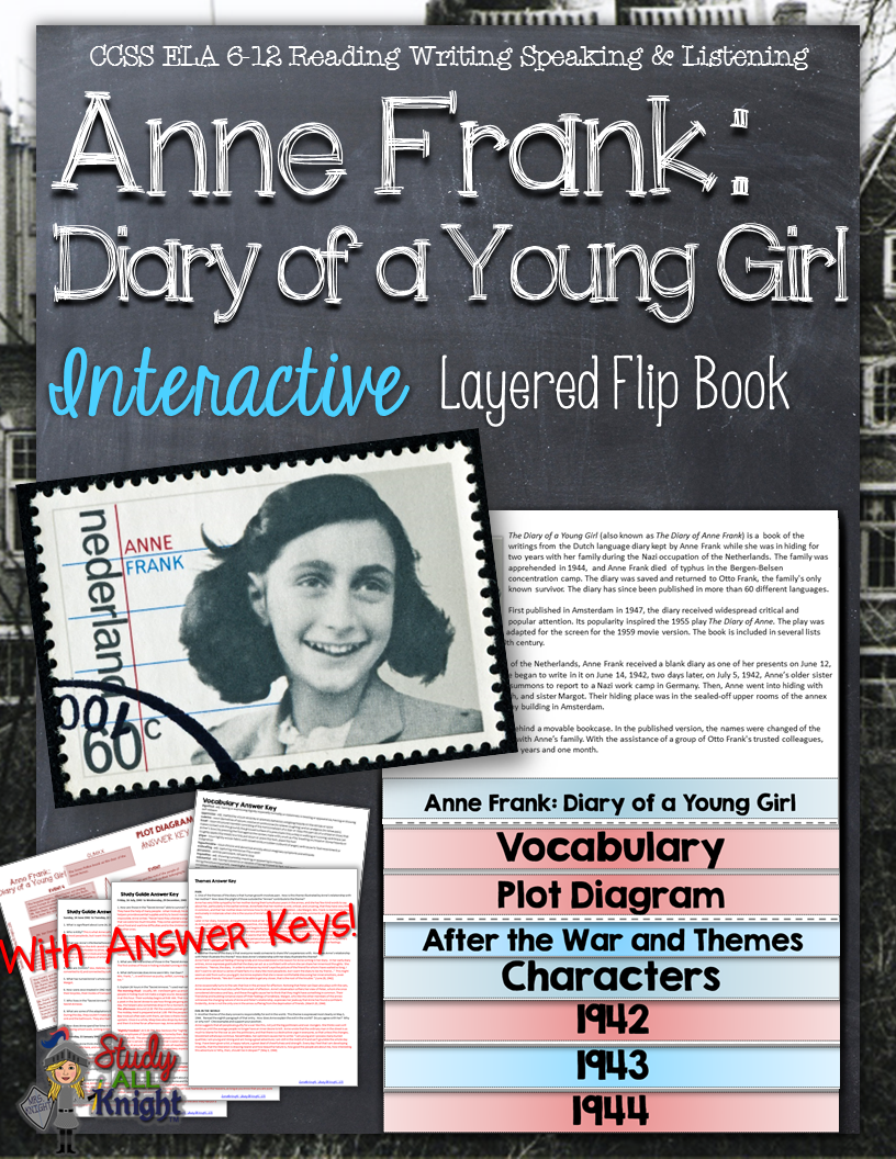 anne frank diary of a young girl interactive layered flip book anne frank diary of a young girl interactive layered flip book each flap is inch and is ready for you to easily line up by using the directions on how