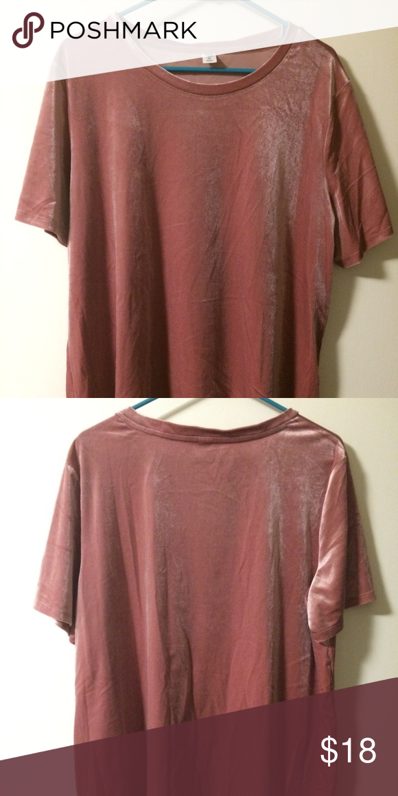 aa28d896 Old Navy Dusty Pink Velvet Tee Old Navy Dusty Pink Velvet Tee. New without  tags. Women's size extra large Old Navy Tops Tees - Short Sleeve