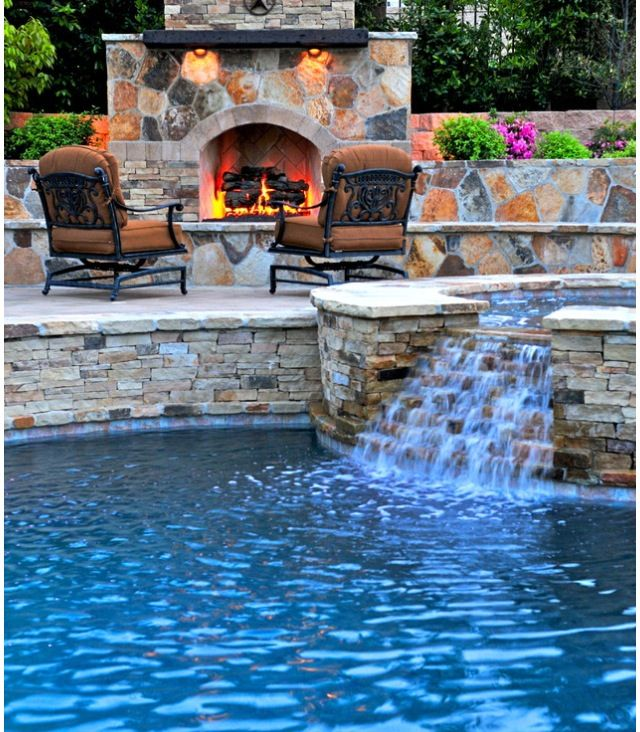 166 Best Outdoor Patio Pool Images On Pinterest: Spa View Of Fireplace-- Pinned From Another Person On