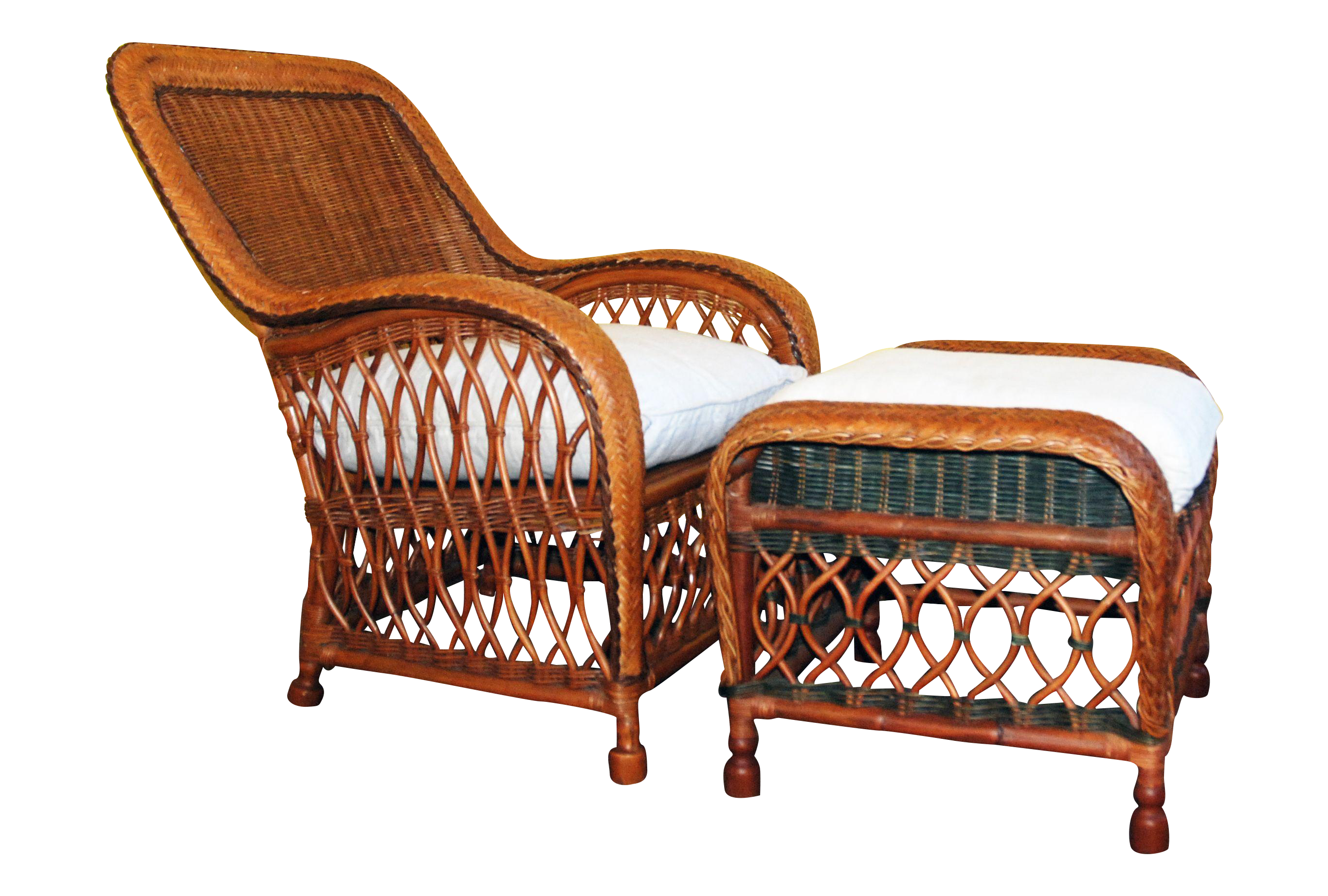 Antique Wicker Chair And Footstool  Google Search
