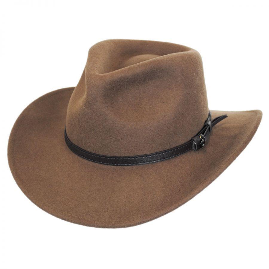 Jaxon Hats Crushable Wool Felt Outback Hat Crushable Outback Hat Jaxon Hats Leather Hats