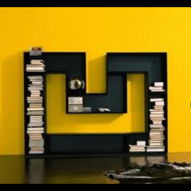 Bookcase Bookshelf In The Shape Of The Letter M