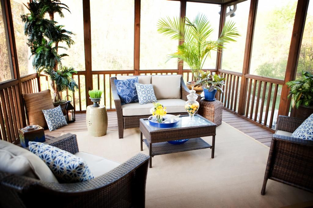 Screened In Porch Interior Design After Screened Porch From Hockman Interior Design In
