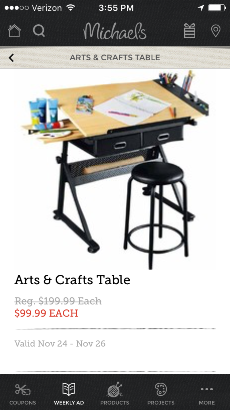 Superb Arts And Crafts Table From Michaels