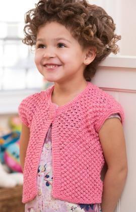 5b1c2a0df16f4b Little Girl Shrug Free Knitting Pattern from Red Heart Yarns