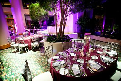 Hyatt Grand Receny Cypress, Purple wedding colors, Orlando wedding rentals, Silver Chiavari Chairs, A Chair Affair Blog