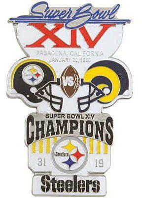 Super Bowl XIV  (NFC) champion Los Angeles Rams-19 vs. (AFC) champion  Pittsburgh Steelers-31   Rose Bowl 1e9a82d9b