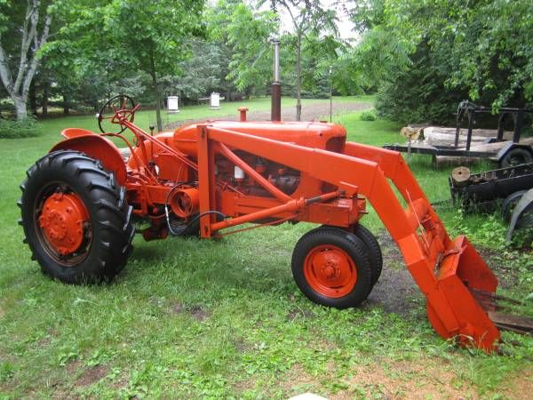Allis Chalmers Wd Tractor With Front End Loader Snow Bucket And 2 Bottom Plow For Sale Starts