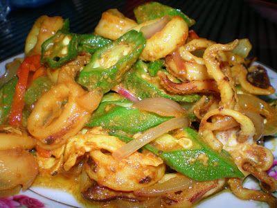 Sotong Goreng Kunyit Resep Seafood Makanan Makanan Rumahan
