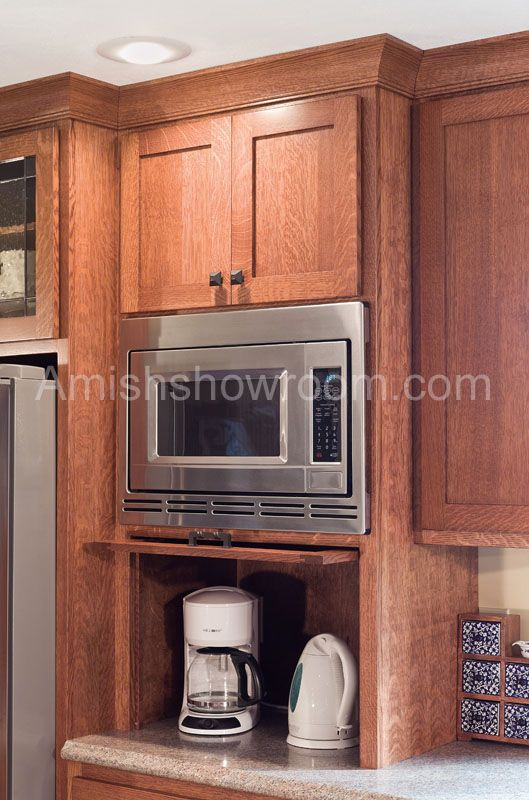 Built in with space for microwave and possibly an for Built in kitchen cabinets