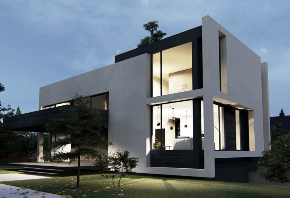 Competition Results See Design Entries For The Modern Contemporary Corner Lot Competition In Canada Congratulations Facade House Architecture House Design