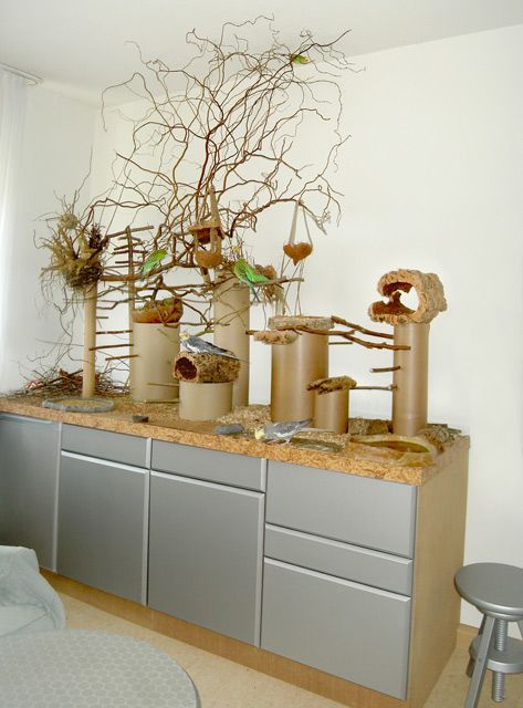 Idea For Bird Play Area On Top Of A Cupboard