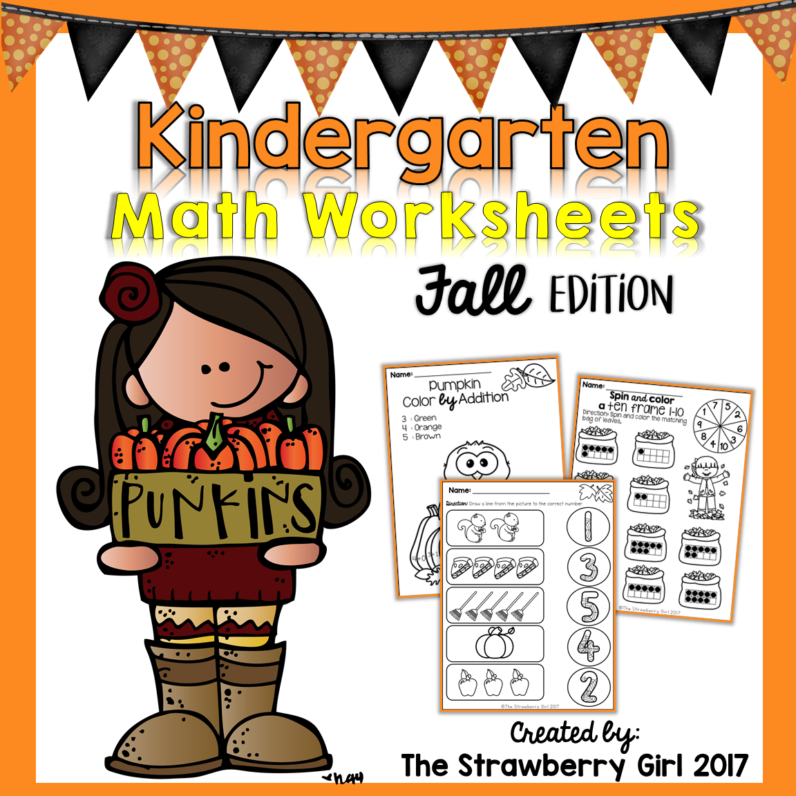 The Kindergarten Math Worksheets Packet Is Filled With Fun