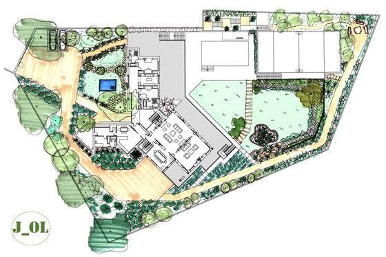 diseño de un jardín | jardin paisajista | pinterest | profesional