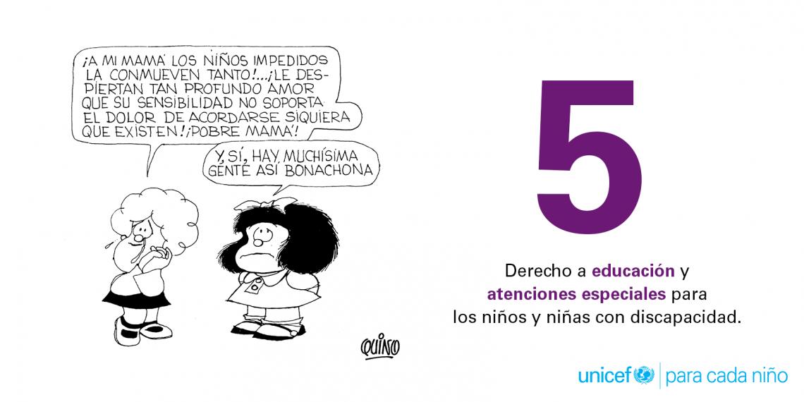 10 Derechos Fundamentales De Los Niños Por Quino Unicef América Latina Y El Caribe 10 Derechos Derechos De Los Niños Derechos De La Infancia