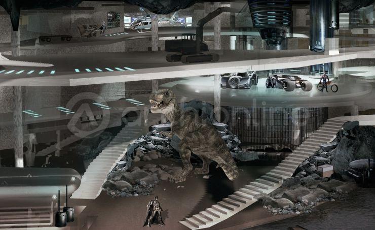 Maison Batcave - Plan de maison de super-héros par Archionline - La