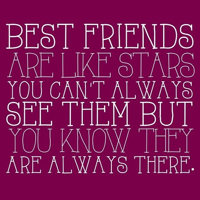Friendship Quotes For Instagram: Best Friends Are Like Stars Quotes Friendship Quote Best