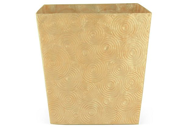 Soleil Wastebasket, Dark Gold on OneKingsLane.com