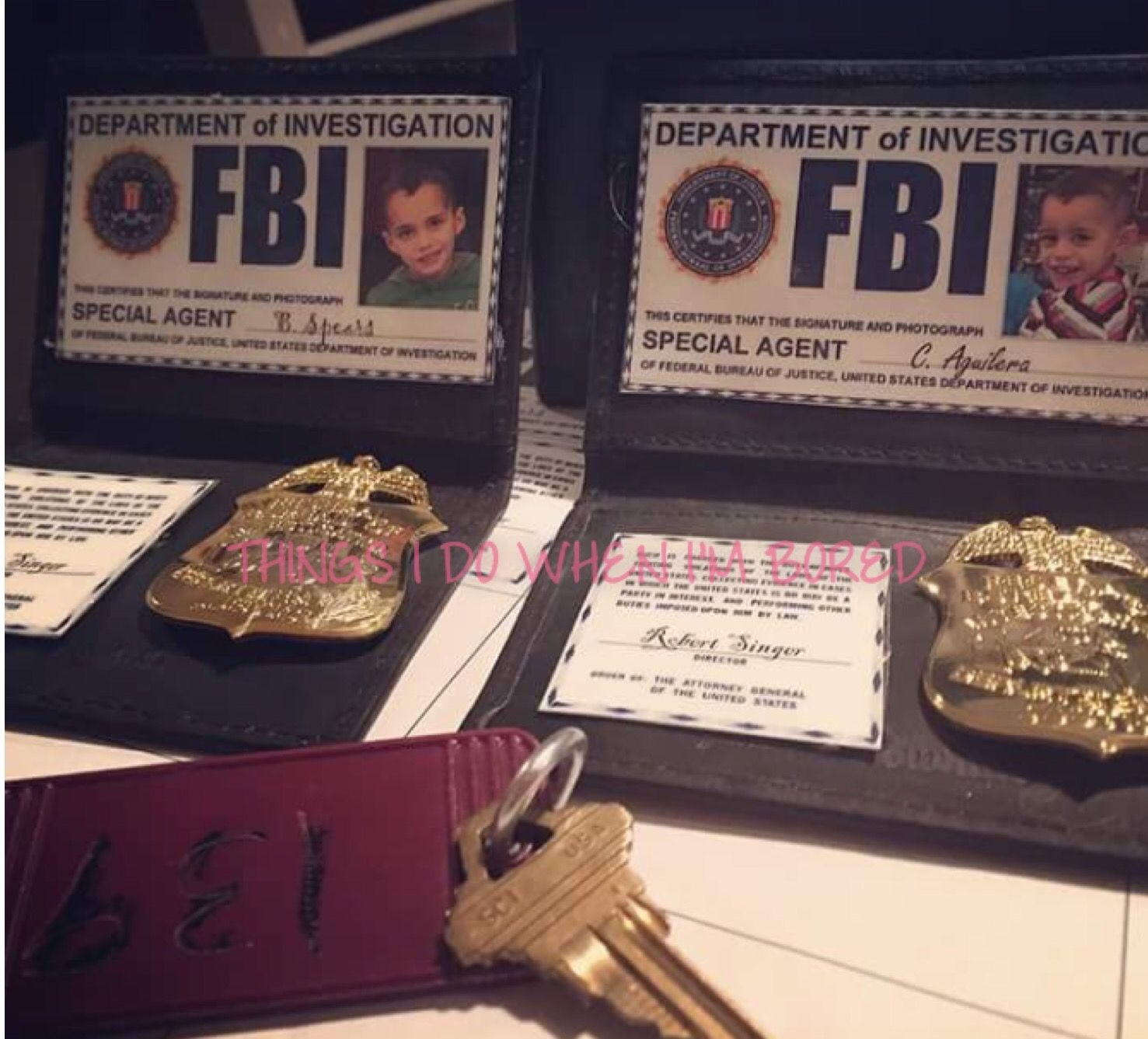 Supernatural Cosplay FBI Badges | DIY, Agent, Aguilera ...