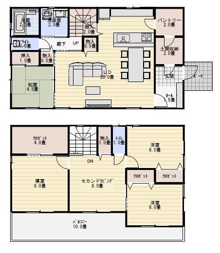 間取り 40坪 35坪 間取り 家のデザイン 40坪 間取り