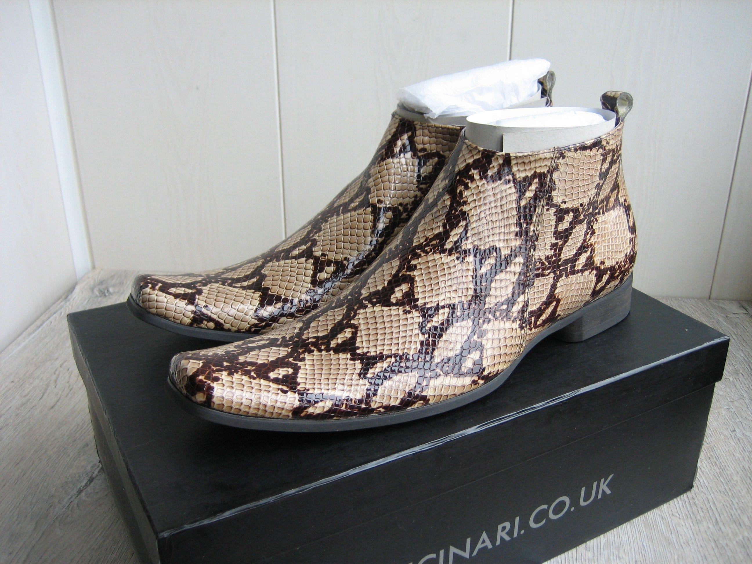 New GUCINARI Men's Snakeskin Leather