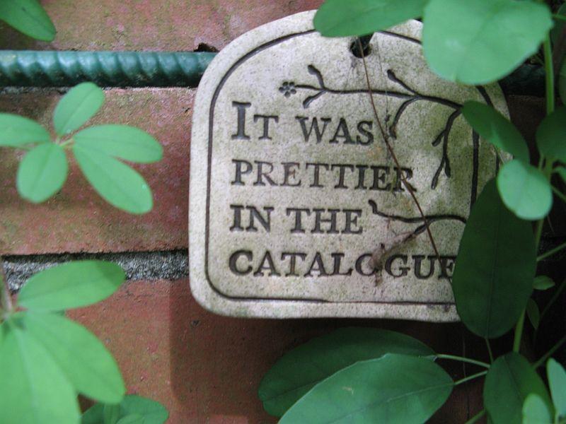 Meidänkin puutarhassa on aika monta kasvia, joiden kylkeen tämän kyltin voisi kiinittää :D.