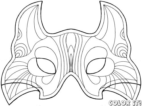 Coloring Mask Carnival Source Coloring Mask Coloring Pages