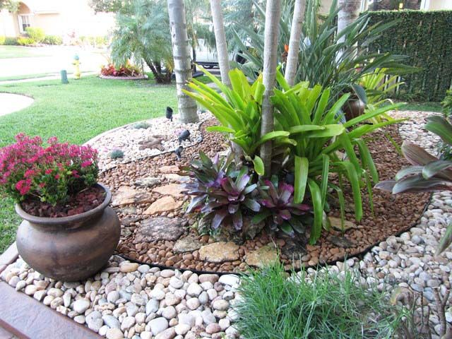 Rock Landscaping Design Ideas dry river rocks garden beautiful backyard ideas Garden Design Ideas Landscape Cottage Flower Rock Pond Small Rock