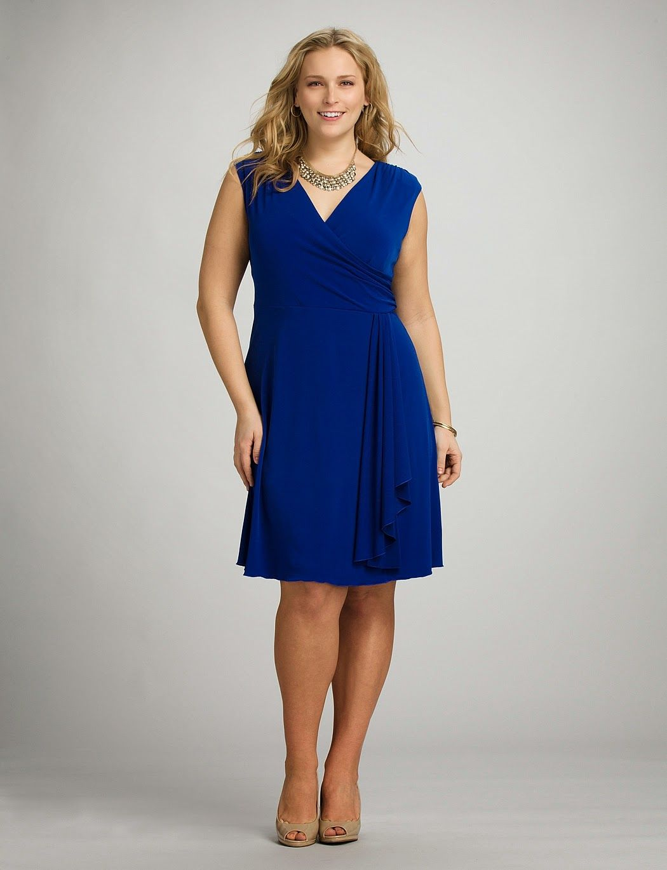Vestidos elegantes azules para gorditas