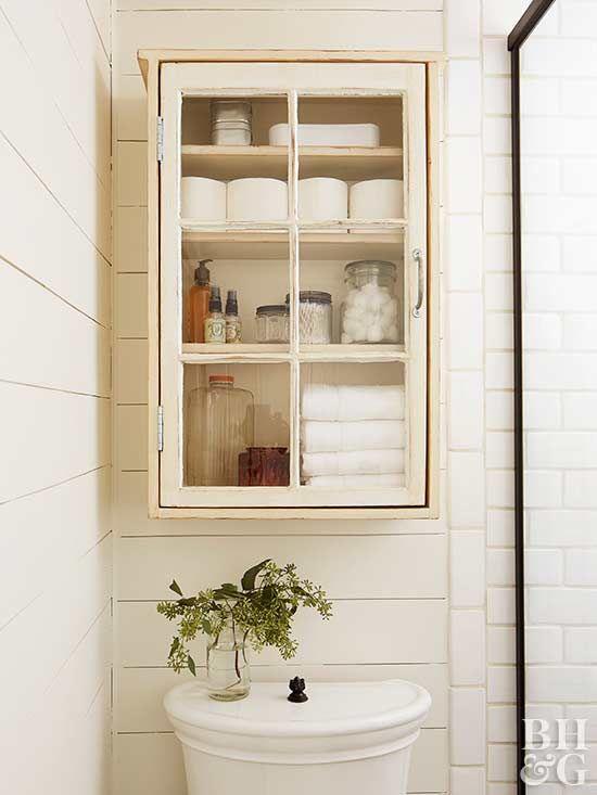 13 Genius Over The Toilet Storage Solutions Bhg S Best Diy Ideas