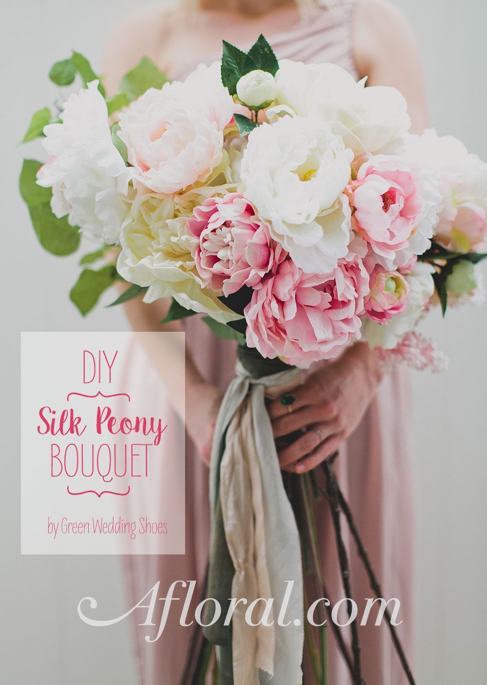 Diy silk flower bouquet with afloral pinterest silk flowers learn how to make a gorgeous silk flower wedding bouquet with silk flowers from afloral diywedding izmirmasajfo