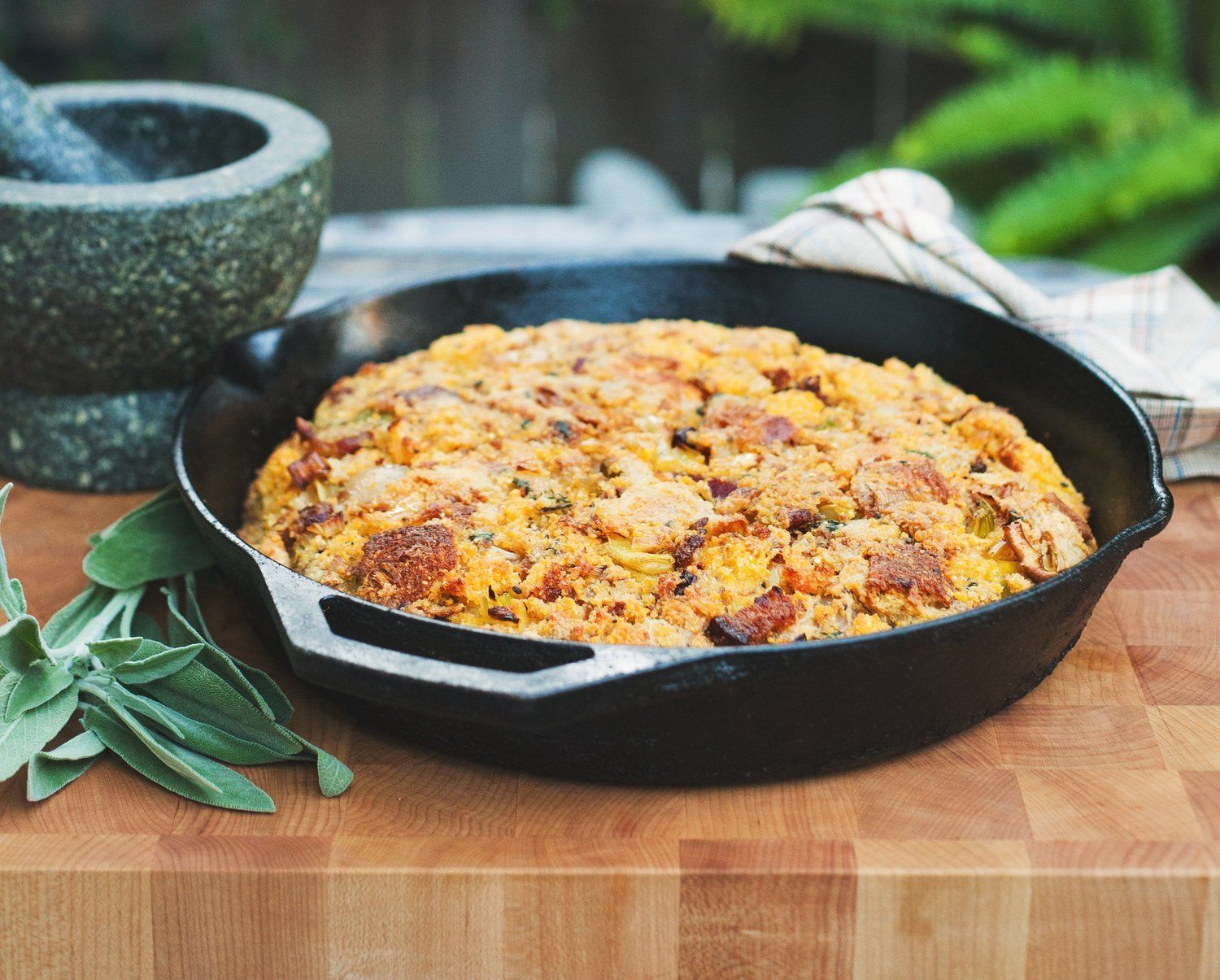Fennel Seed Cornbread Stuffing with Bacon (With images