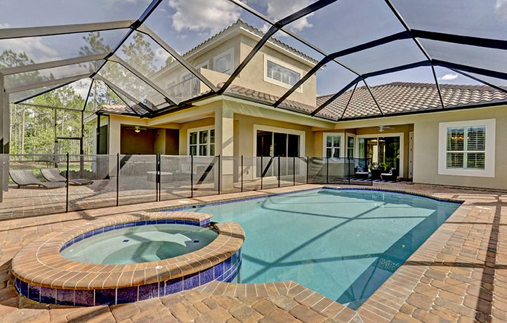 Beautiful Pool In Santa Maria Backyard New House Plans Palencia New Home Communities