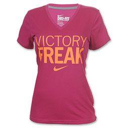 Nike Victory Freak Women's Deep V-Neck Tee Shirt