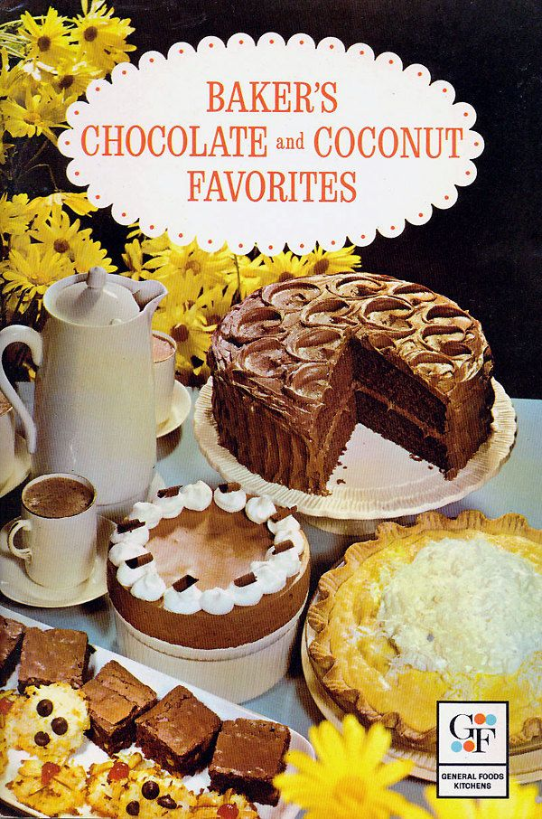 Vintage advertising cookbook 1960s bakers chocolate coconut bakers chocolate and coconut favorites paperback author general foods cookbook forumfinder Gallery