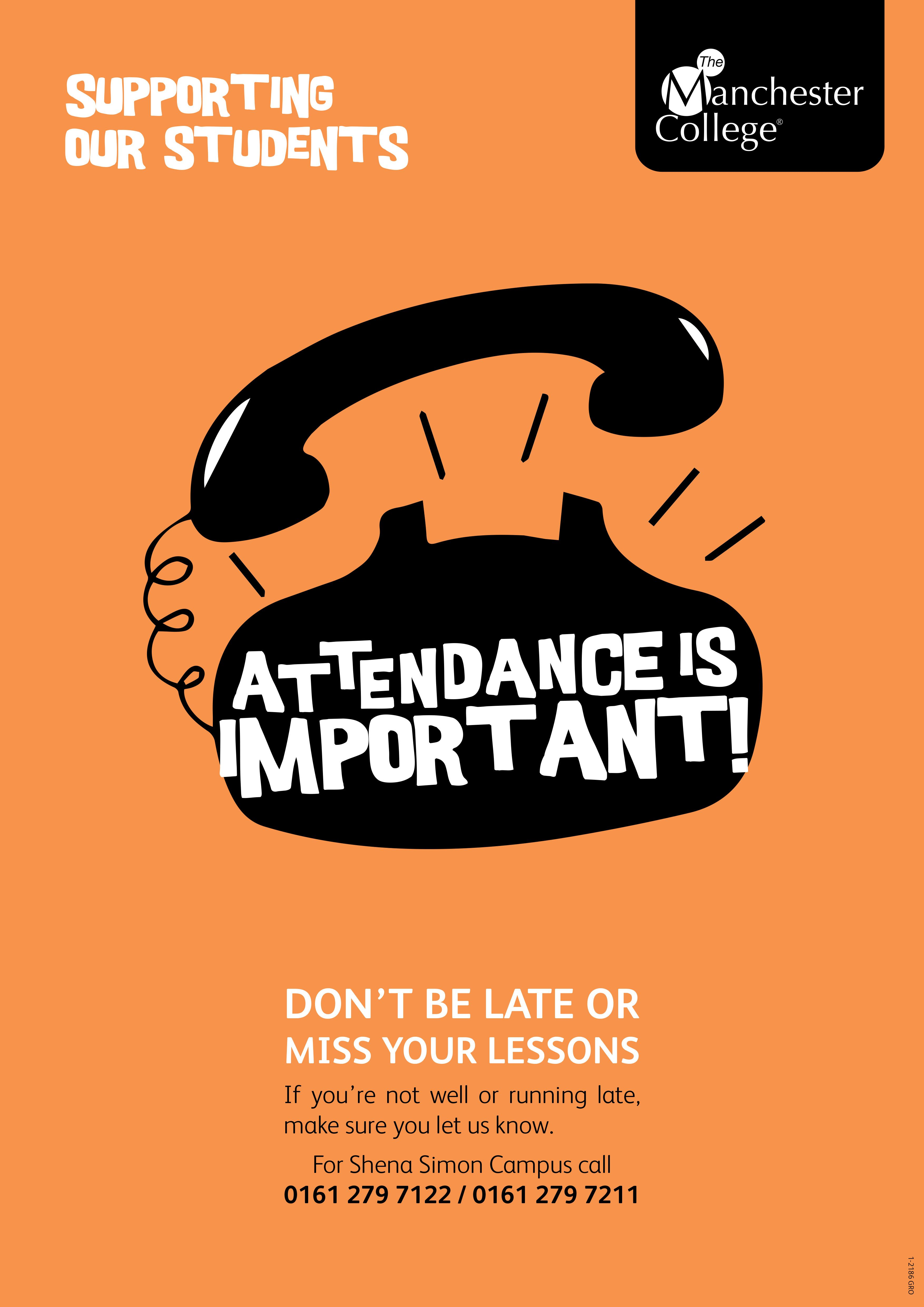 Poster design for students - Attendance Poster Part Of A Suite Of Posters For Student Support Created By Sarah