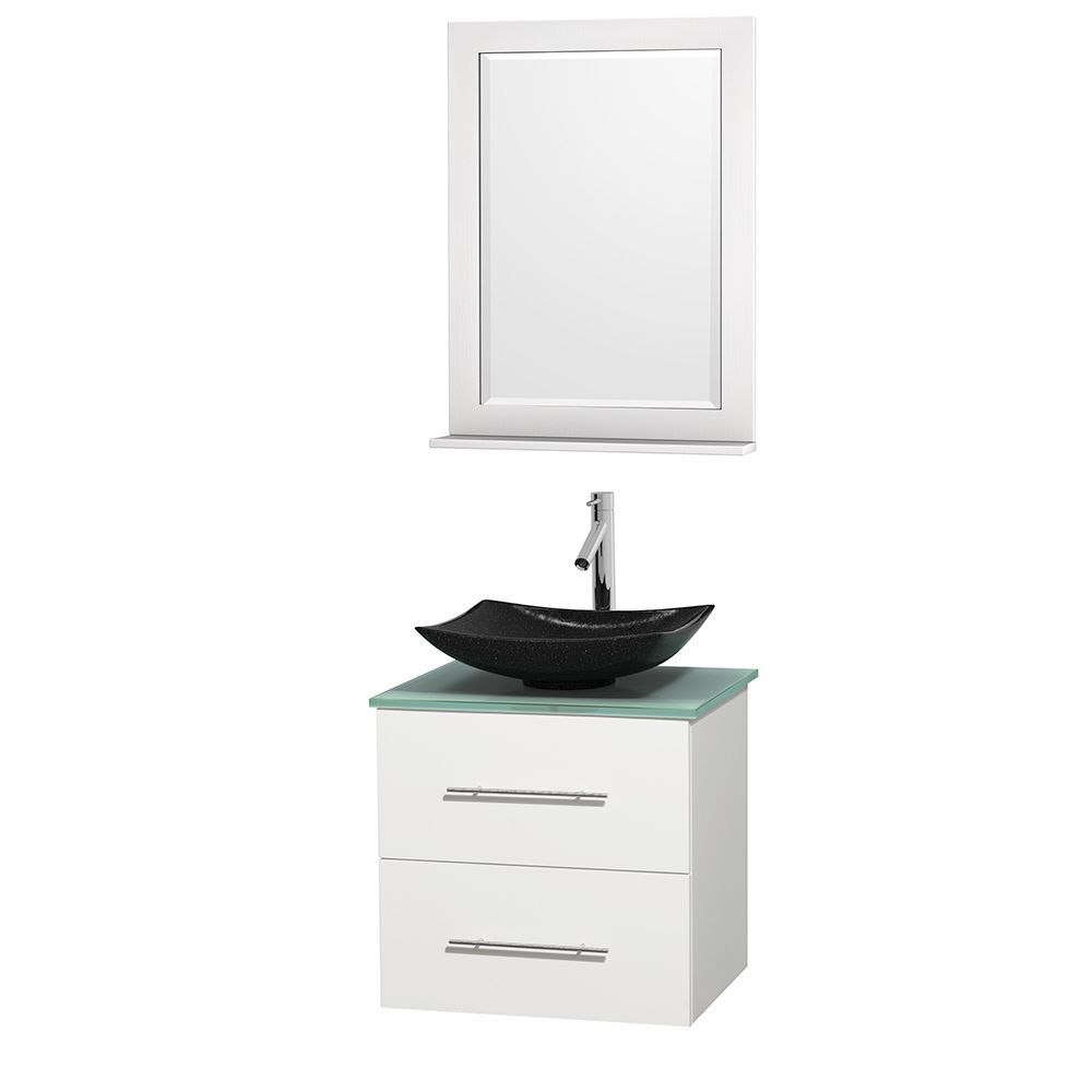 Wyndham Collection Centra 24 Inch Single Bathroom Vanity In White