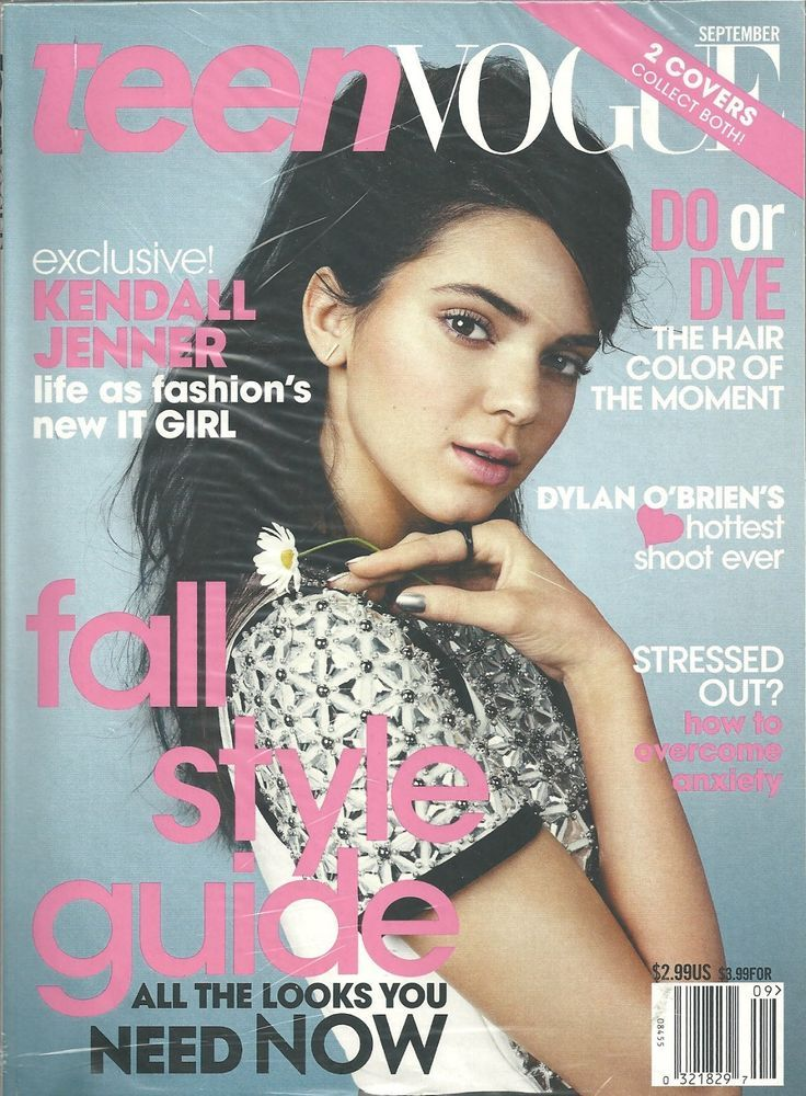 TEEN VOGUE September 2014 Kendall Jenner English Fashion Monthly