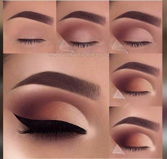 Natural nude brown eyeshadow #makeuplooksforbrowneyes #browneyeshadow