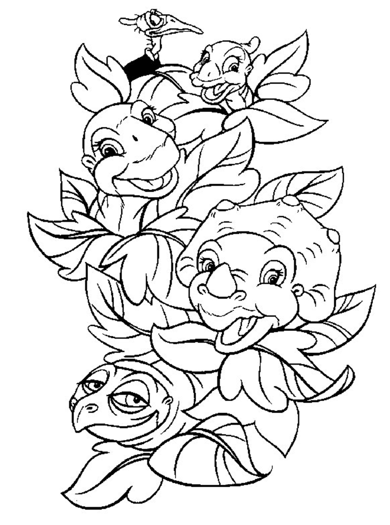 Land Before Time coloring page